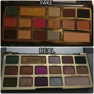 How to spot fake Chocolate Gold pallet